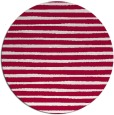 rug #889988 | round red stripes rug