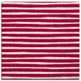 rug #889996 | square red stripes rug