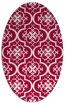 rug #890000 | oval red popular rug