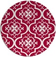 rug #890008 | round red traditional rug