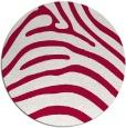rug #890048 | round red animal rug