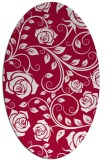 rug #890060 | oval red natural rug
