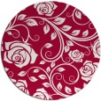 rug #890068 | round red rug
