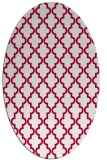 rug #890160 | oval red traditional rug
