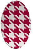 rug #890260 | oval red retro rug