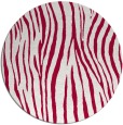 rug #890288 | round red stripes rug