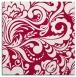rug #890336 | square red damask rug