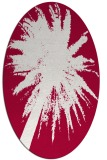 rug #890380 | oval red abstract rug