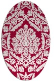 rug #890420 | oval red traditional rug