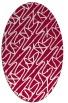 rug #890460 | oval red rug