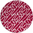 rug #890468 | round red rug