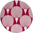 rug #890488 | round red retro rug