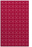 rug #890524 |  red geometry rug