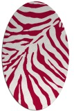 rug #890560 | oval red animal rug