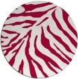rug #890568   round red stripes rug