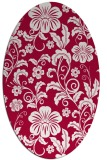 rug #890620   oval red popular rug