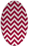 rug #890801 | oval stripes rug