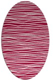rug #890900 | oval red stripes rug