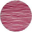 rug #890908   round red stripes rug