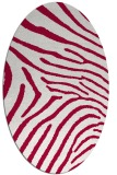 rug #891000 | oval red animal rug