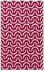 rug #891064 |  red retro rug