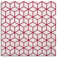 rug #891136 | square red geometry rug