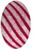 rug #891140 | oval red stripes rug