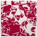 rug #891336 | square red abstract rug