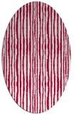 rug #891400 | oval red stripes rug