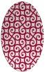 rug #891461 | oval traditional rug