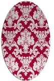 rug #891480 | oval red damask rug