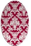 rug #891480 | oval red rug