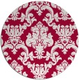 rug #891488 | round red rug