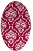 rug #891520 | oval red damask rug