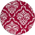 rug #891528 | round red traditional rug