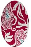 rug #891600   oval red natural rug