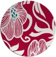 rug #891608   round red natural rug