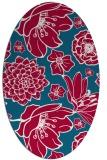 rug #891640 | oval red rug