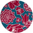 rug #891648 | round red rug