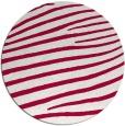 rug #891688   round red animal rug