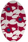rug #891740 | oval red rug