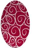 rug #891840 | oval red circles rug