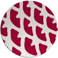 rug #891888 | round red abstract rug
