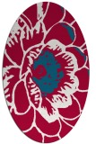 rug #891980 | oval red graphic rug