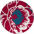 rug #891988 | round red graphic rug