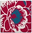 rug #891996 | square red graphic rug