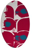 rug #892020 | oval red abstract rug