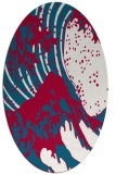 rug #892040 | oval red graphic rug