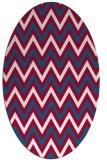 rug #892060 | oval red stripes rug