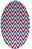 rug #892061 | oval stripes rug